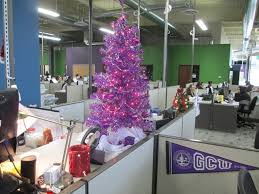 office christmas decor. At The 27th Avenue Office Center, Sea Of Cubicles Is Dominated By A Festive \u201cchimney\u201d Created \u0027Lopes Specialists Halezka Mullenbach And Paul Yousif. Christmas Decor
