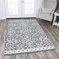rizzy home blue grey plush area rugs 8 10 unique modern