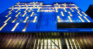 glass facade design office building. Office Facades. Avci Architects Transformed A Derelict Building Into Striking Led-lit Headquarters Glass Facade Design