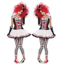 Deluxe <b>Halloween Costume</b> Women Adult <b>Funny Circus</b> Clown ...