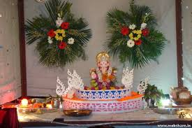 ganpati decoration ideas ganpati decoration photos modern house