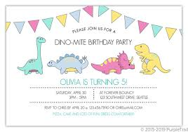 Dinosaur Birthday Invitation Dinomite Celebration Birthday Party Invitation