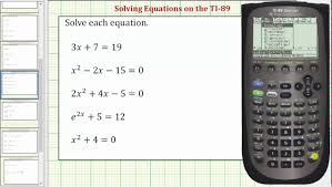 solving equations on the ti 89