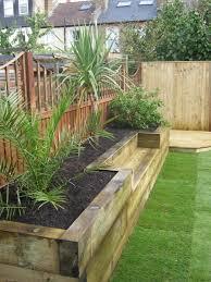 Garden Design Ideas With Railway Sleepers Bench Raised Bed Made Of Railway Sleepers House Ideas