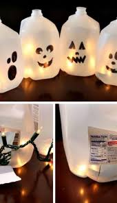milk jug ghosts make luminaria by filling milk jugs with lights easy