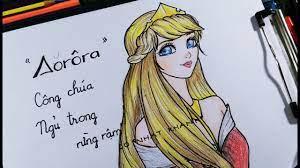 Vẽ Aurora công chúa ngủ trong rừng kiểu mới/ Draw Aurora princess new/DO  NHAT KHANH - YouTube