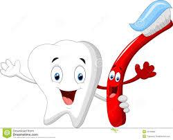 Personnage De Dessin Anim Dentaire De Dent Et De Brosse Dents