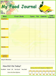 this printable food diary template in adobe format is color coded to make it easy doent