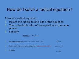 how do i solve a radical equation