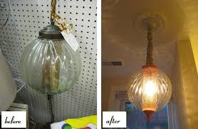 budget idea 2 make spray paint your new bestie look how fun the chandeliers below are imagine that pop of color hanging over your pretty little