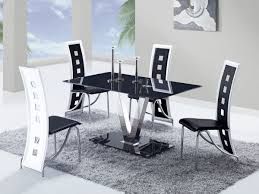 Casual Glam Dining Room Mantle Styling Black Table With And White - Modern white dining room sets
