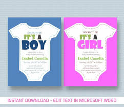 How To Make A Baby Shower Invitation On Microsoft Word Baby Shower Invitation Template for MS Word YouTube 2