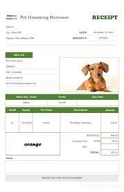 Dog Receipt Printable Receipt Template For Pet Boarding