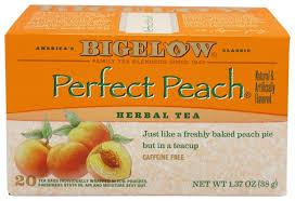 bigelow tea herb tea all natural caffeine free perfect peach 20 tea bags at luckyvitamin