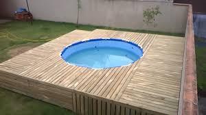 diy pool decks modern how to build a deck above ground plans inside 25