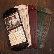 Wall Calendar Frame rustic style calendar holder - color choice - free  shipping