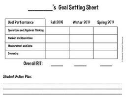 Map Test Chart 2017 Nwea Student Goal Setting Sheet Goal Setting For Students