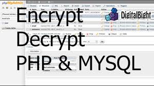 encrypt decrypt hashing php mysql