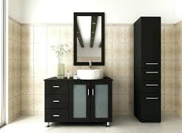 ideas decorative modern bathroom cabinets without tops using black paint finishes for furniture with frosted glass