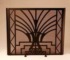 Image Lcitbilaspur Standing Art Deco Fireplace Screen Custom Hand Forged Firescreens For Your Fireplace Ironforgecom Freestanding Art Deco Fireplace Screen Design With Mica Ironforgecom