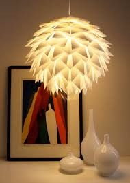 creative pendant light ideas to spruce up your home folding white spiky pendant lamp for