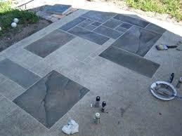 cement paint ideas concrete patio faux slate home in outdoor cement paint remodel ideas floor paint