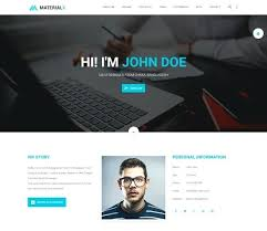 Personal Site Template Free Best Free Template For Personal Website