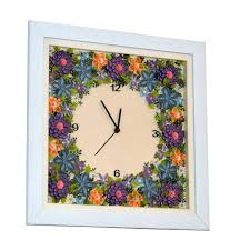 Small Picture Buy Handmade Paper Quilling Wall Clock Online Craftsvilla