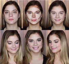 highlight and contour makeup steps. tutorial for a classic contour and highlight makeup steps f
