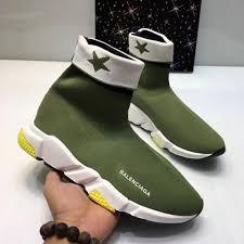 Balenciaga Sneakers Women S Size Chart Woman Man Balenciaga Speed Trainer Sock Sneakers Shoes Green