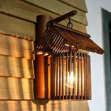 bamboo roof wall lamps vintage barn lantern rustic sconces lighting led lamp light fixtures outdoor