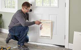 how to install a dog door the home depot