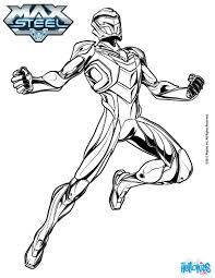 Coloriages Max Steel En Armure De Super H Ros Fr Hellokids Com