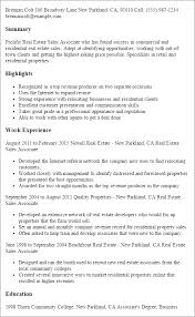 Resume Templates: Real Estate Sales Associate