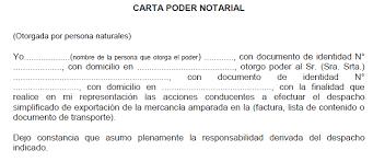Ejemplo De Poder Notarial Formato De Carta Poder Notarial