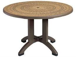 grosfillex havana resin 48 round pedestal table