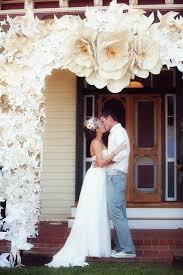 Paper Flower Archway Paper Flower Arch Wedding Decor Paper Flowers Wedding