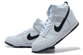 nike shoes white and black high top. nike dunk hi white and black shoes high top m