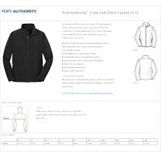 Soft Shell Jacket Size Chart Port Authority Sizing Chart Arts Arts