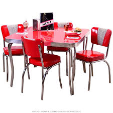 retro dinette set with square table
