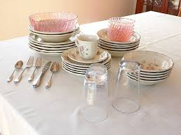 author s dishes glasses and flatware after vinegar cleaning