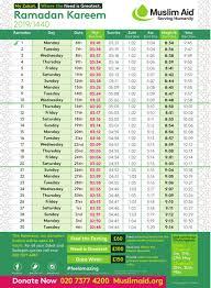 Roja Chart 2018 When Is Ramadan 2019 Ramadan Timetable 2019
