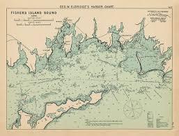 Fishers Island Sound Nautical Chart By George W Eldridge 1901 Colored Version