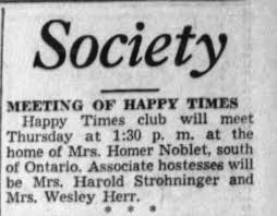Happy Times club and Mrs Wesley Herr - Newspapers.com
