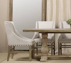 nailhead dining chairs dining room. Nailhead Linen Upholstered Chairs Farmhouse Dining Room New O