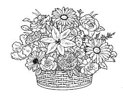 Flower Coloring Pages Hard Coloring Pages Flowers And Butterflies