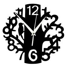 creative 3d acrylic tree and bird numbers mirror wall clock diy digital needle decorative wall clock sticker small decorative clocks small decorative wall