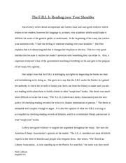 argumentative essay the f b i is reading over your shoulder zara argumentative essay the f b i is reading over your shoulder zara gelsey writes about an important and current issue and uses good evidence which