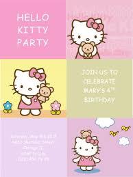 Hello Kitty Party Invitation Templates Free Party Invitation