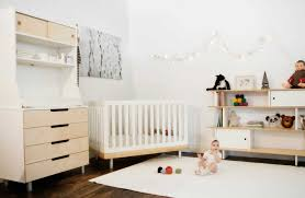 contemporary baby furniture. Baby Room Modern Decor Furnished With White Crib Contemporary Furniture